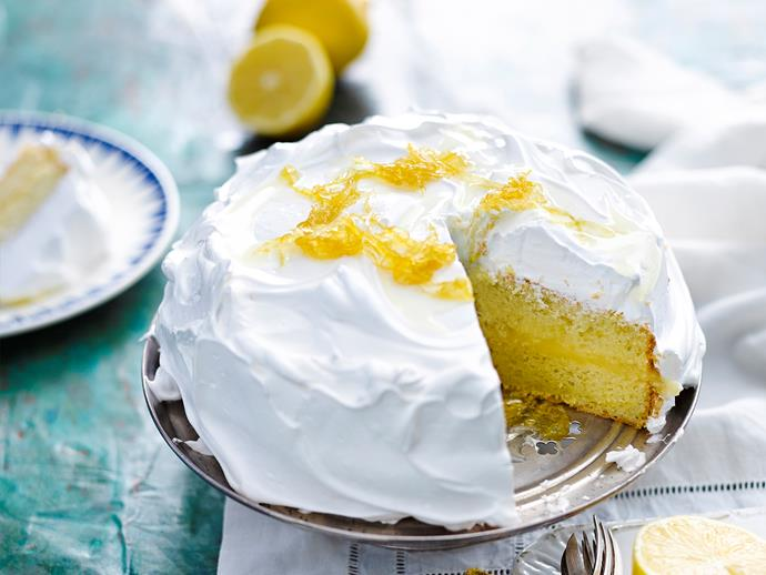 "[Lemon meringue cake](https://www.womensweeklyfood.com.au/recipes/lemon-meringue-cake-28685|target=""_blank"")  *Gluten- and dairy-free*"