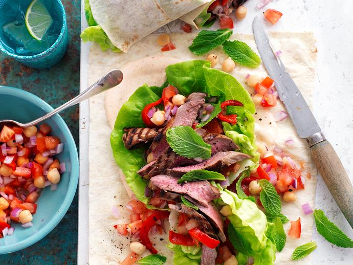 """Excite your tastebuds with these delicious [Moroccan lamb and chickpea wraps](https://www.womensweeklyfood.com.au/recipes/moroccan-lamb-and-chickpea-wraps-28687