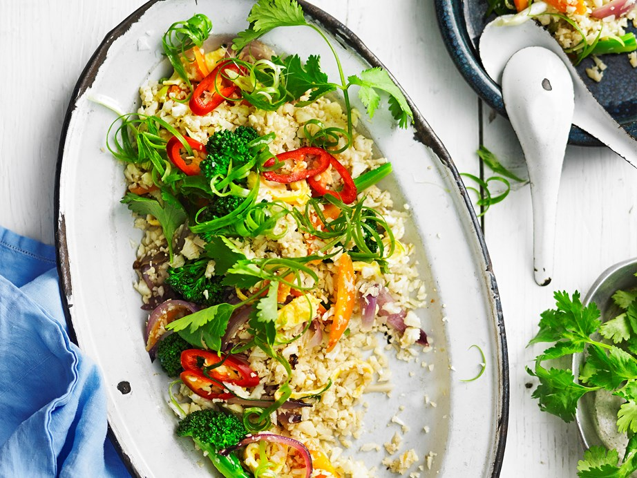 "If you're hunting for a low-carb version of this family favourite, try this [cauliflower fried rice recipe.](https://www.womensweeklyfood.com.au/recipes/cauliflower-fried-rice-28689|target=""_blank"")"
