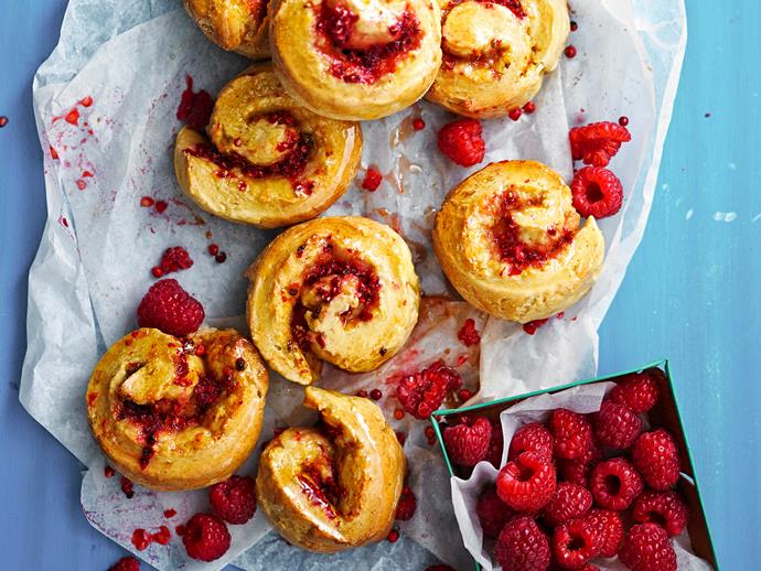 "Indulge in these delicious [raspberry, polenta and pink peppercorn scrolls](https://www.womensweeklyfood.com.au/recipes/raspberry-polenta-and-pink-peppercorn-scrolls-28694|target=""_blank""). Enjoy for breakfast, dessert, or as a guilt-free treat."