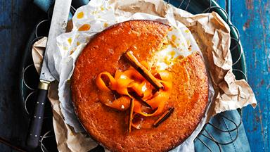 Olive oil and marmalade cake