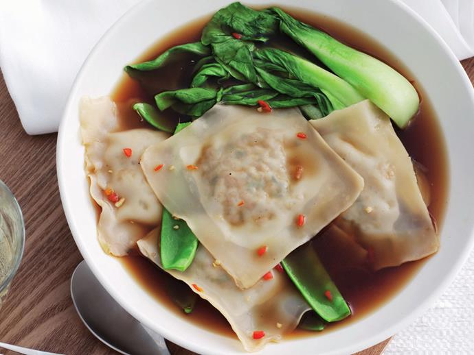 "**[Ravioli with Asian greens](https://www.womensweeklyfood.com.au/recipes/ravioli-with-asian-greens-8032|target=""_blank"")** Ravioli don't have to be an Italian delicacy. This ravioli with greens recipe takes the basic form and fills it with the spices and flavours of Asia."