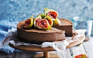 Earl grey and chocolate cheesecake