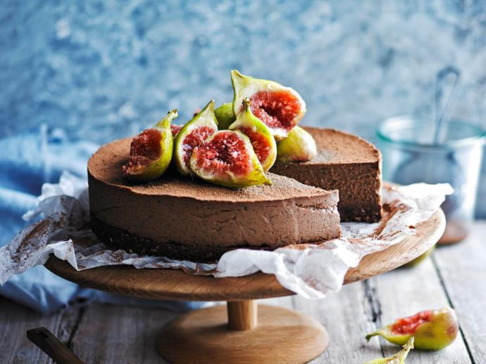 "[Earl grey and chocolate cheesecake](https://www.womensweeklyfood.com.au/recipes/earl-grey-and-chocolate-cheesecake-28698|target=""_blank"")  *Gluten- and dairy-free*"