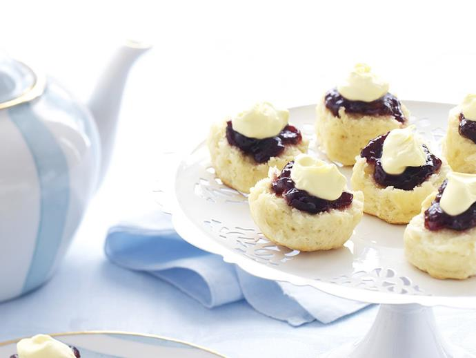 "**[Scones with jam and cream](https://www.womensweeklyfood.com.au/recipes/scones-with-jam-and-cream-14343|target=""_blank"")**  Fresh warm scones with jam and double cream are one of the true delights in the afternoon tea repertoire. If you can get your hands on some proper clotted cream, all the better."