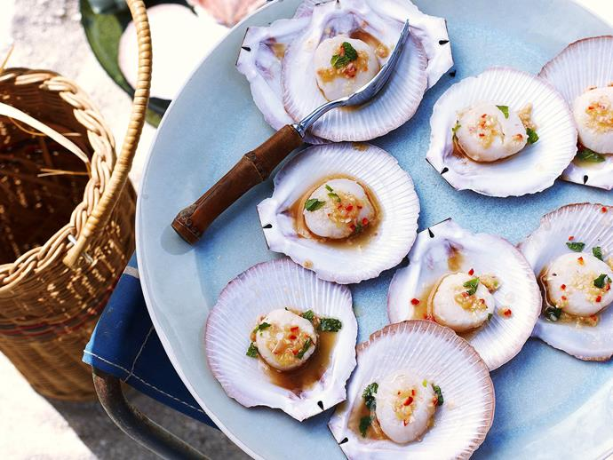 "Scallops on the half-shell always make a spectacular dish, treat your friends to something special with these delicious [ginger and lemongrass scallops](https://www.womensweeklyfood.com.au/recipes/scallops-with-ginger-and-lemongrass-20051|target=""_blank"")."