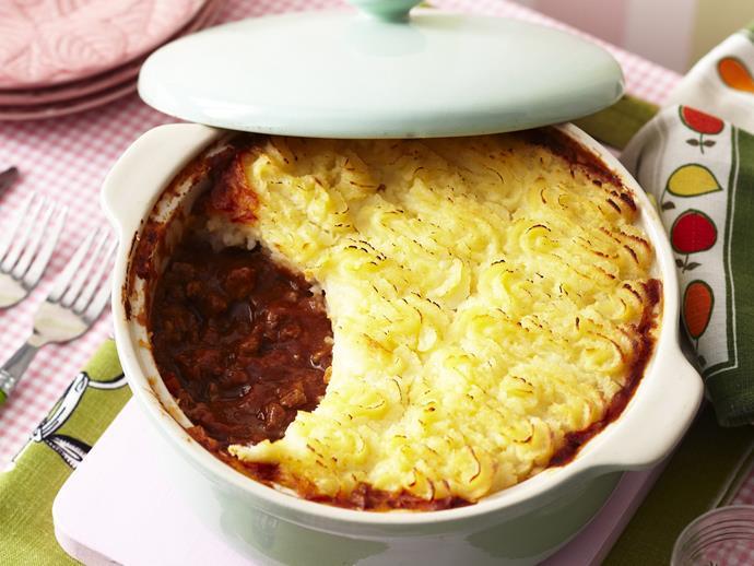 "[Shepherd's pie](https://www.womensweeklyfood.com.au/recipes/shepherds-pie-7402|target=""_blank"")"
