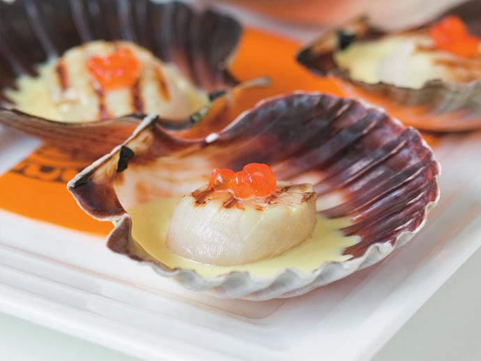 "**[Scallops with saffron cream](https://www.womensweeklyfood.com.au/recipes/scallops-with-saffron-cream-9263|target=""_blank"")**  These scallops on the half-shell, dressed with fragrant saffron cream and topped with salmon roe, make an exquisite starter for a very special dinner."