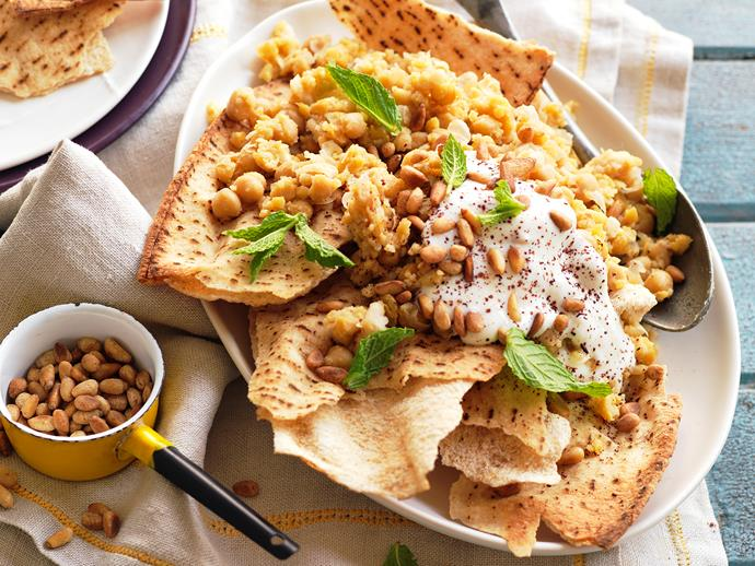 """**[Fatteh](https://www.womensweeklyfood.com.au/recipes/fatteh-10370