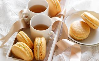 tropical french macaroons
