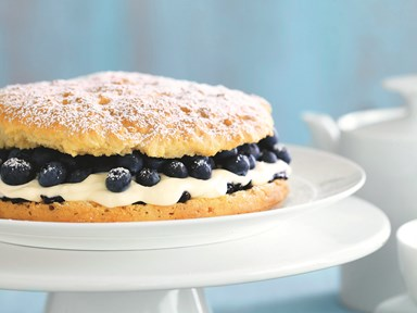 Easy blueberry shortcake