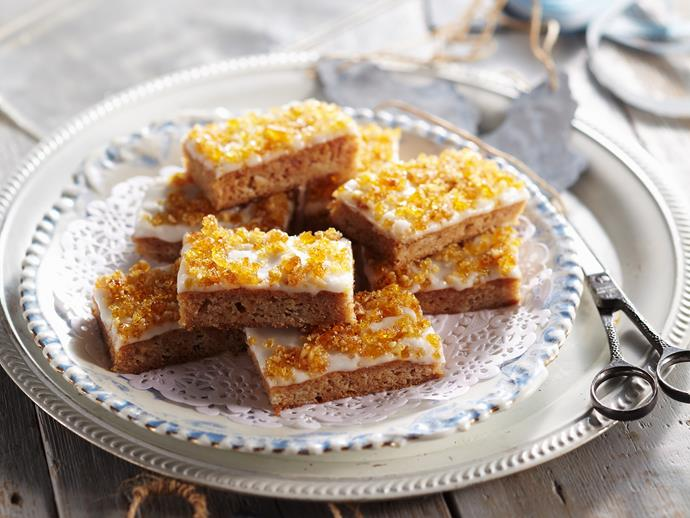 """Reminisce on your childhood taste-buds with this delicious [toffee apple slice](https://www.womensweeklyfood.com.au/recipes/toffee-apple-slice-28724