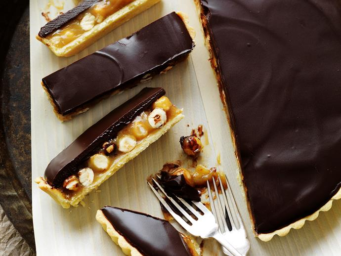 "[Chocolate hazelnut pie recipe.](https://www.womensweeklyfood.com.au/recipes/chocolate-hazelnut-pie-28729|target=""_blank"")"