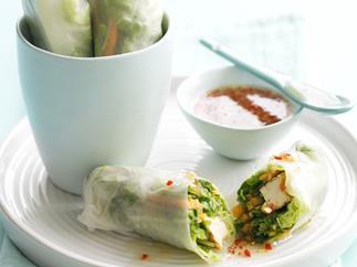 Vegetable and tofu rolls