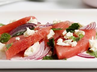 Watermelon and fetta salad