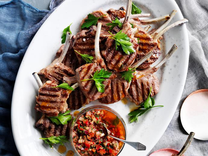 Chimichurri lamb cutlets via [Food To Love](http://www.foodtolove.com.au/recipes/chimichurri-lamb-cutlets-17007).