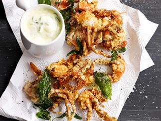 Soft shell crab with green onion aioli