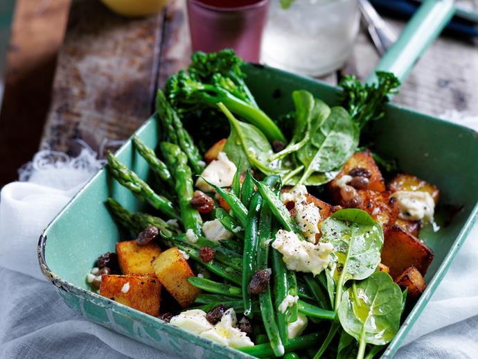 """**[Supergreens salad with polenta croutons](https://www.womensweeklyfood.com.au/recipes/supergreens-salad-with-polenta-croutons-28744