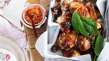 Citrus chicken drumsticks with chilli salt
