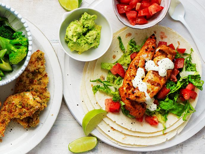 "Take your taste buds to Mexico with these fresh and flavoursome [Mexican chicken tortillas](https://www.womensweeklyfood.com.au/recipes/mexican-chicken-wraps-28759|target=""_blank"") - they're easy to make and great to whip up with the kids. They make a tasty lunch or dinner any night of the week!"