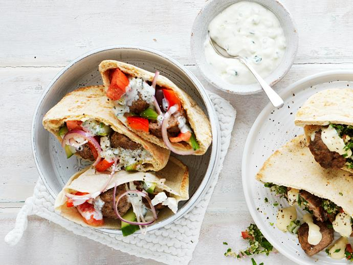 """**[Greek meatball pocket](https://www.womensweeklyfood.com.au/recipes/greek-meatball-pocket-28760 target=""""_blank"""")**  Get creative in the kitchen tonight with these delicious Greek style meatball pockets. Packed full authentic flavour and spices, it tastes wonderful but is super easy to prepare - perfect for weeknight dinners!"""