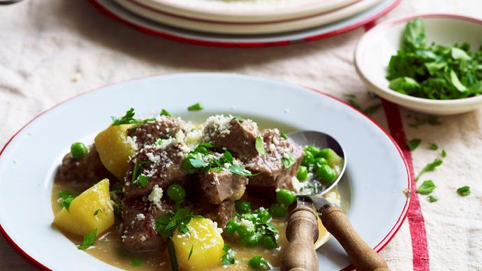 White wine and lamb one pot