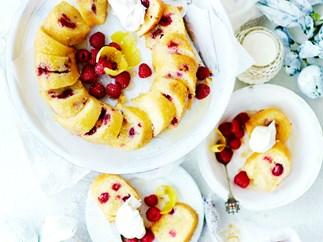 Gluten-free raspberry and lemon syrup cake