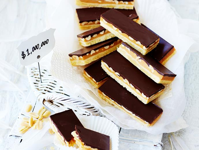 "**[Millionaire's shortbread](https://www.womensweeklyfood.com.au/recipes/millionaires-shortbread-28793|target=""_blank"")**  This dessert is worthy of a millionaire! Full of rich, sweet and decadent ingredients, this shortbread is simply divine!"