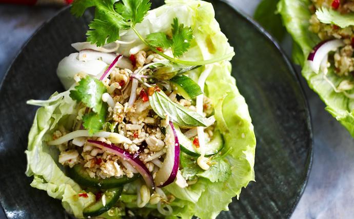 larb gai (spicy chicken salad)