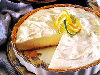 Lime chiffon pie
