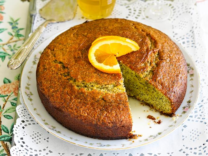 """This light and fluffy [orange poppy seed cake](https://www.womensweeklyfood.com.au/recipes/orange-and-poppy-seed-syrup-cake-28802