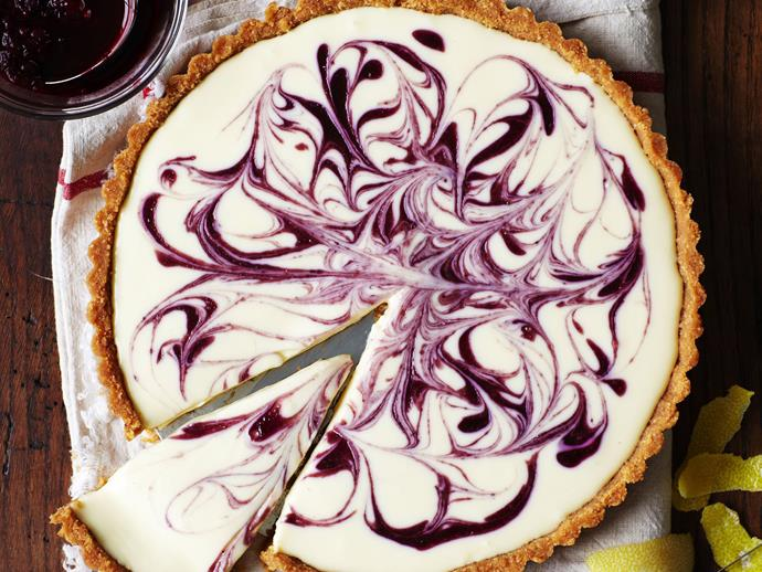 "[Berry coulis cheesecake tart recipe.](https://www.womensweeklyfood.com.au/recipes/berry-coulis-cheese-tart-8323|target=""_blank"")"