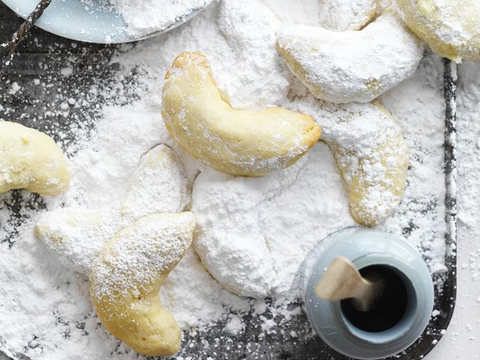 """These [Greek almond crescents](https://www.womensweeklyfood.com.au/recipes/greek-almond-crescents-15116