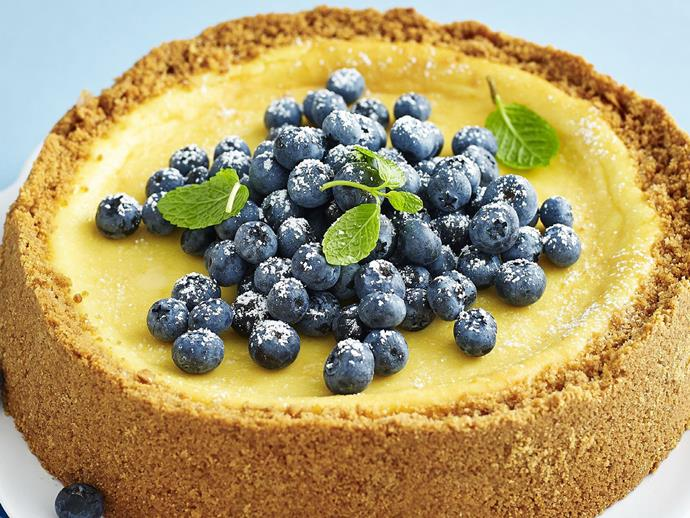 """**[Baked sour cream cheesecake](https://www.womensweeklyfood.com.au/recipes/baked-sour-cream-cheesecake-13076 target=""""_blank"""")**  Most cheesecakes benefit from being made a day ahead; the flavours develop and the texture becomes firm."""