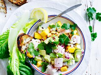 Avocado and mango ceviche