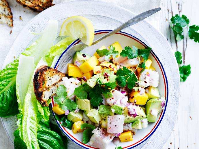 """**[Avocado and mango ceviche](https://www.womensweeklyfood.com.au/recipes/avocado-and-mango-ceviche-28863