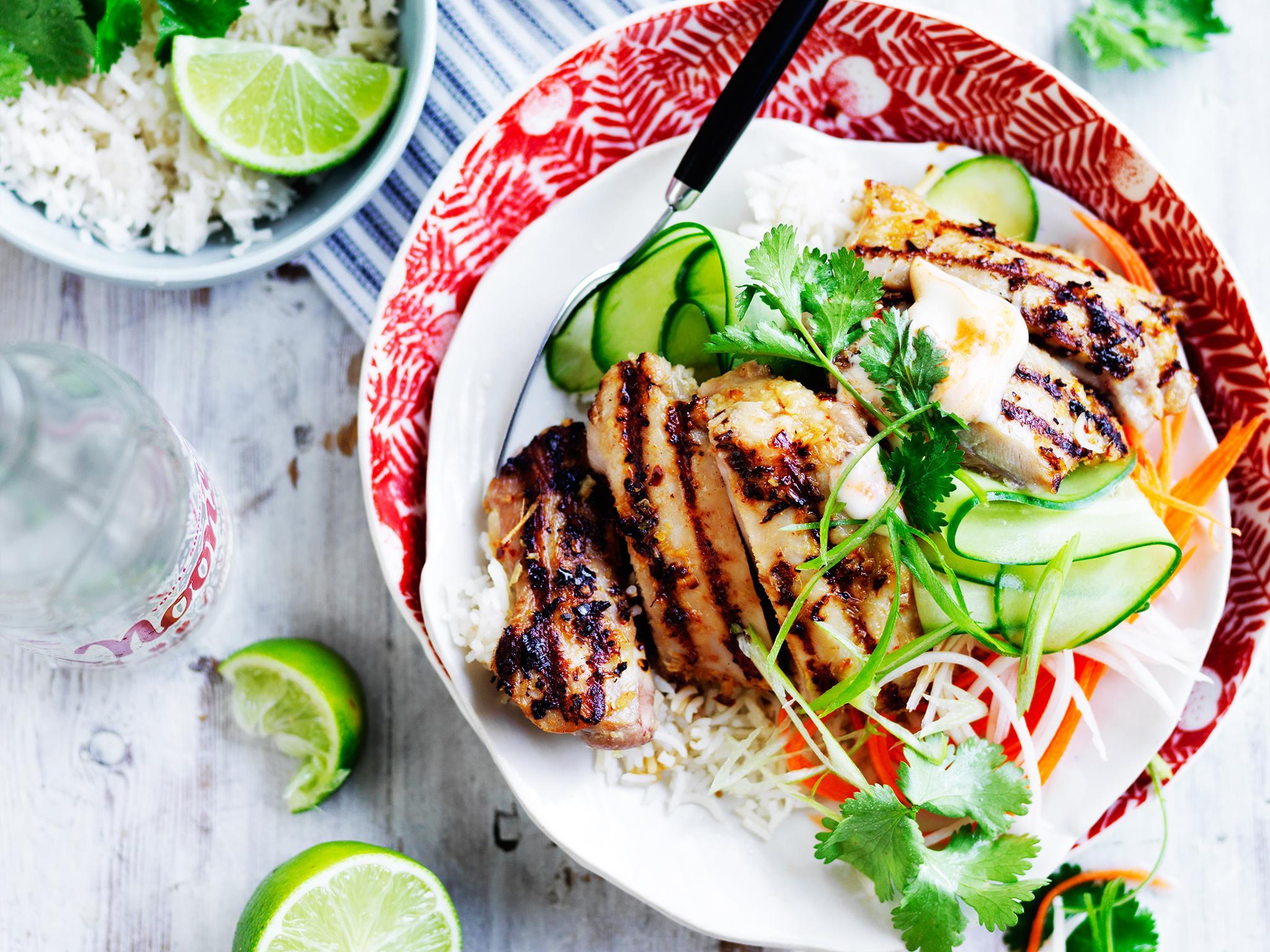 "This **[lemongrass and chicken banh mi bowl](https://www.womensweeklyfood.com.au/recipes/lemon-grass-and-chicken-banh-mi-bowl-28869|target=""_blank"")** is a deliciously fresh Vietnamese dish."