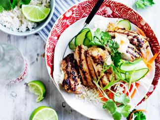Vietnamese lemongrass chicken bowl