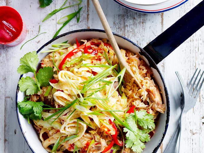 "**[Chicken fried rice](http://www.foodtolove.com.au/recipes/chicken-fried-rice-18550|target=""_blank""):** Everyone has their go-to Chinese chicken fried rice recipe, but we can guarantee this one will knock it out of the park."