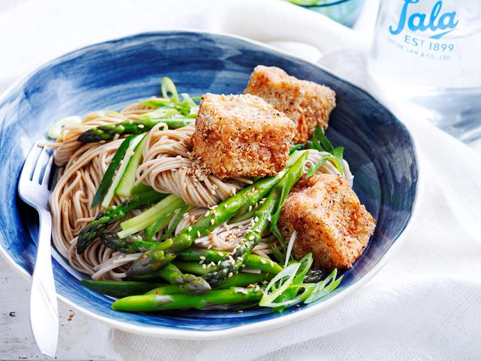 "Enjoy the fresh, wholesome taste of Asia with this sensational [salt and pepper tofu with soba noodles](https://www.womensweeklyfood.com.au/recipes/salt-and-pepper-tofu-with-soba-noodles-28886|target=""_blank"") dish - a quick and flavoursome dinner idea!"