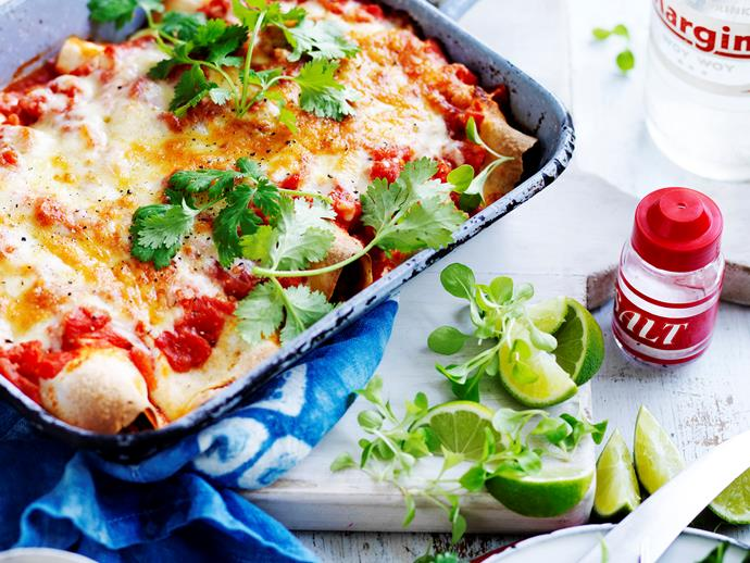 Spicy, sour, tangy paprika and lime pork enchiladas - this deliciously fresh and flavoursome Mexican inspired dish is ticking all the boxes!