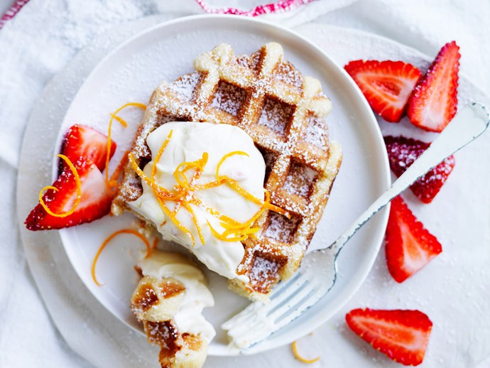 **10 minutes**. [Waffles with marmalade ricotta via Food To Love](http://www.foodtolove.com.au/recipes/waffles-with-marmalade-ricotta-18582).