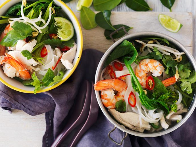 "[Hot and sour prawn and chicken soup recipe.](https://www.womensweeklyfood.com.au/recipes/hot-and-sour-prawn-and-chicken-soup-14019|target=""_blank"")"