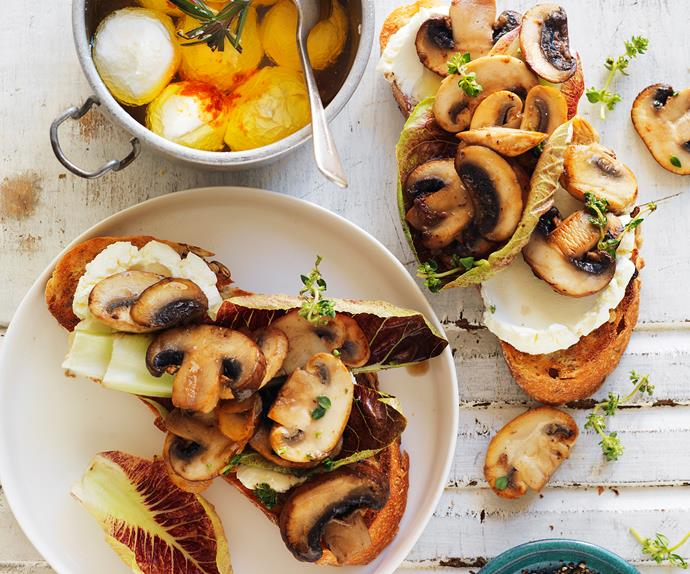 mushroom and labne sandwich
