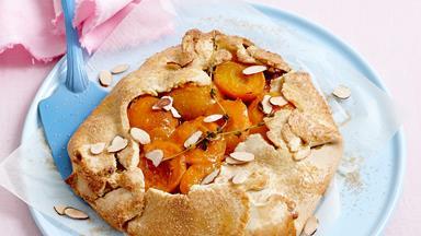 Free-form apricot tart