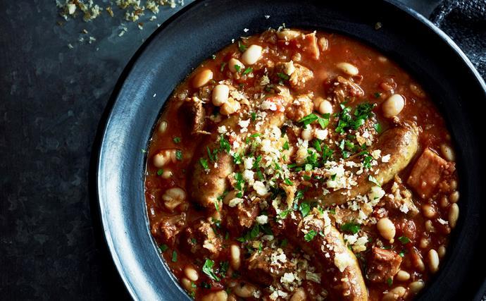 Slow-cooker lamb cassoulet
