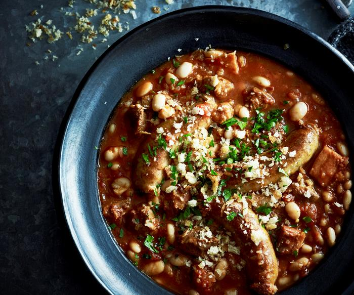 Slow-cooker lamb cassoulet