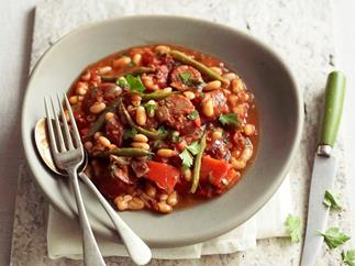 Chorizo, chilli and white bean stew
