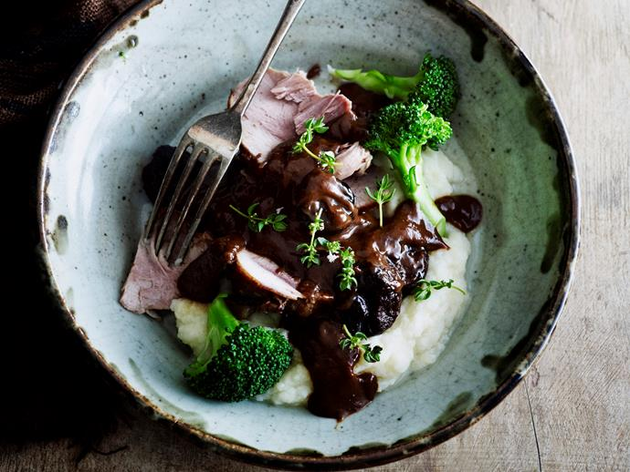 "**[Slow-cooker pork with prunes](https://www.womensweeklyfood.com.au/recipes/slow-cooker-pork-with-prunes-28972|target=""_blank"")**  Slow cooking delicious pork and sweet prunes creates a tender, caramelised flavour that you will love. Enjoy your flavoursome stew over a bed of creamy mash for the ultimate family Winter warmer."