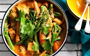 Red tofu curry